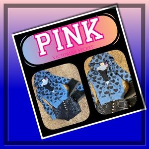 💙🖤💙 PINK 💙🖤💙 Brand Full Zip Hoodie